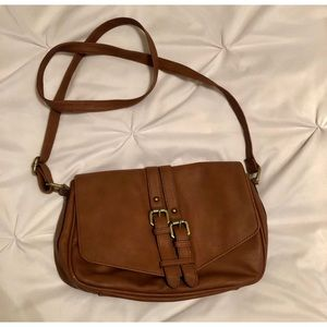 Merona Brown Faux Leather Purse